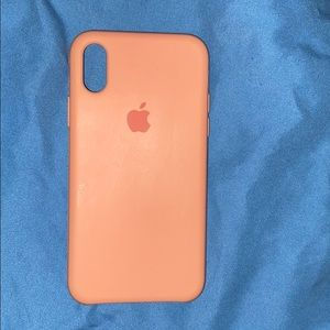 iPhone X Case Light Pink Hard Silicone
